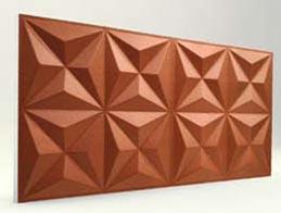 Piramit Desenli-Koyu Bakır 3D Xps Panel