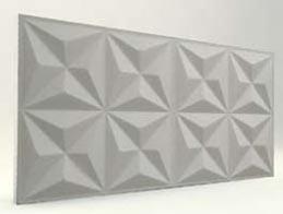 Piramit Desenli-Mat Boyasız 3D Xps Panel