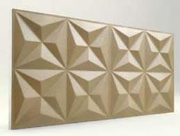 Piramit Desenli-Sütlü Kahve 3D Xps Panel