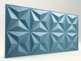 Piramit Desenli-Turkuaz 3D Xps Panel