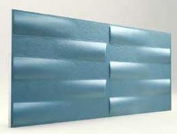 Simetri Desenli Turkuaz 3D Xps Panel