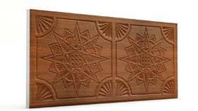 Yıldız Koyu Kahve Oymalı Mermer Panel