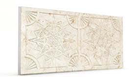 Yıldız Krem Oymalı Mermer Panel