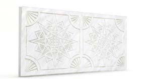 Yıldız İnci Beyaz Oymalı Mermer Panel