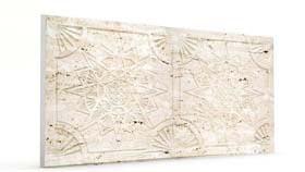Yıldız Kirli Beyaz Oymalı Mermer Panel